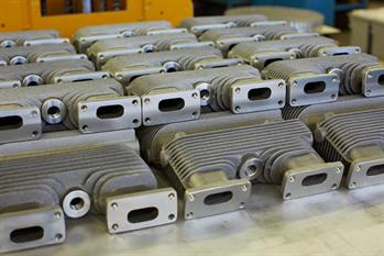 Aluminium castings for cooling and heating, embedded components and street furniture
